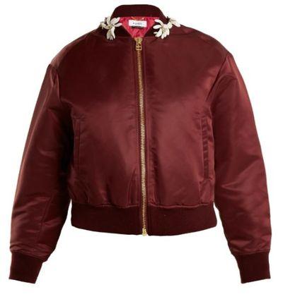 "<a href=""http://www.matchesfashion.com/au/products/Muveil-Floral-embellished-bomber-jacket-1172498"" target=""_blank"">Muveil Floral-embellished Baseball Jacket, $808.</a>"