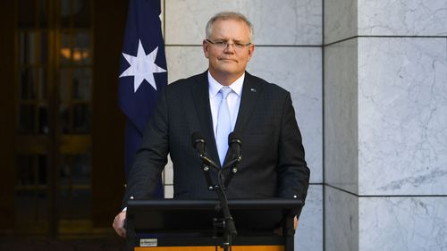 Scott Morrison said most Australian coronavirus cases are connected to the United States.