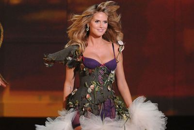 NOW: Yep, Heidi's still slaying it on the catwalk...with much better locks, we might add. <br/>