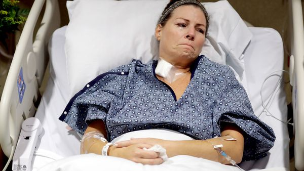 Natalie Vanderstay was shot in the stomach and suffered a leg injury after a gunman opened fire on a country music festival in Las Vegas. (AP)