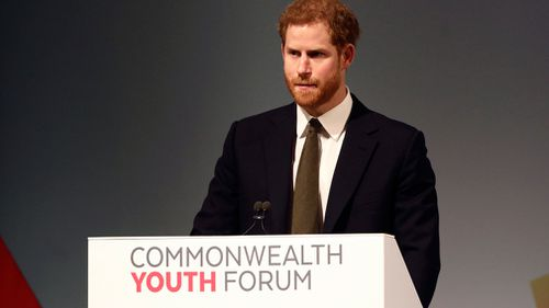 Prince Harry has been named as the Commonwealth Youth Ambassador. (AP/AAP)