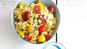 Fresh corn and cherry tomato salad