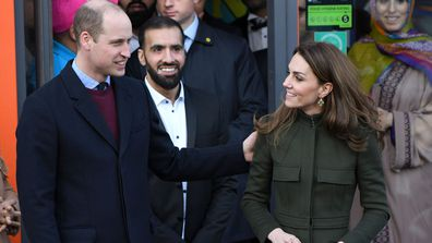 Prince William, Duke of Cambridge and Catherine, Duchess of Cambridge depart City Hall, Bradford on January 15, 2020 in Bradford, United Kingdom