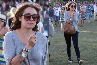 Lauren keeps it simple and aces it. Not only can she fly under the radar, but she looks like a babe.<br/><br/><i>Lauren Conrad at Coachella Festival 2012<br/>Image: Snappermedia</i>
