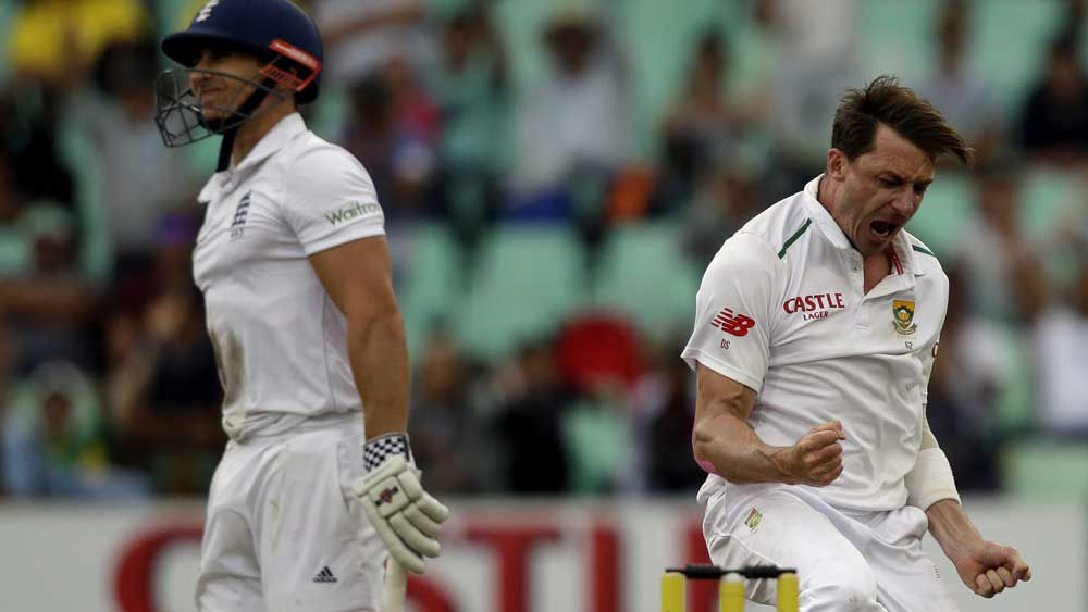 Dale Steyn fired on the opening day of the series. (AAP)