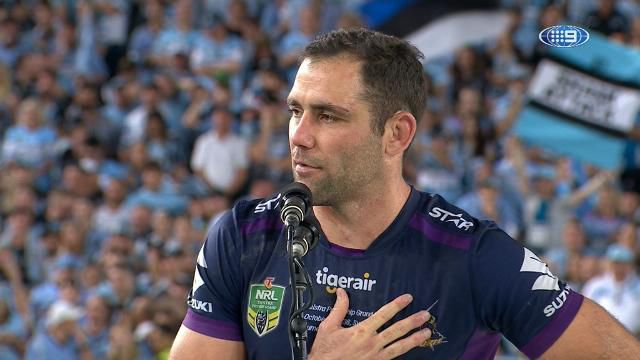 Cameron Smith praised for gracious speech to Cronulla fans