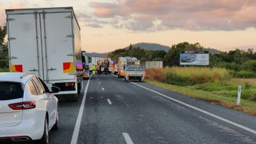 Two dead one in hospital after horror smash on Bruce Highway near Proserpine