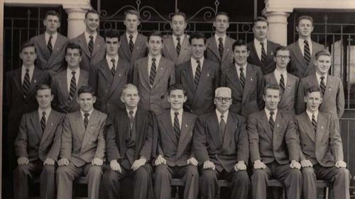 The prefects of Sydney Boys High in 1955.