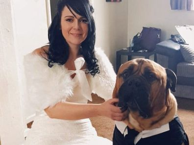 Couple bring wedding forward for dog