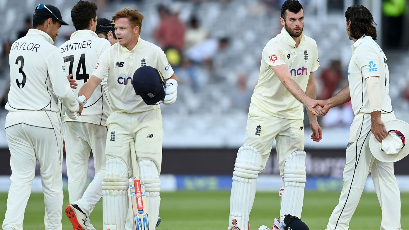 England frustrates NZ to draw 1st test; Robinson suspended