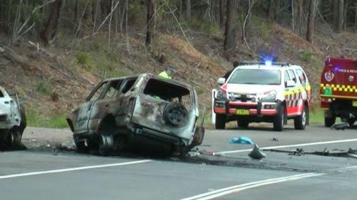 The fiery crash has left four people dead.