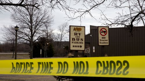 A file photo showing the crime scene after Jason Dalton's shooting rampage in 2016.