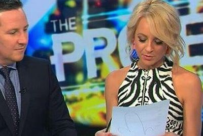 "<i>The Project</i>'s Carrie Bickmore was left red-faced when she accidentally flashed a scribble of a giant penis on the back of her script on live TV. Of course, Twitter noticed and went to town on the primetime, erm, cock-up. ""My little sister just asked what Carrie drew on the back of her paper,"" one user wrote.<br/><br/>Carrie revealed it was her former co-host Charlie Pickering's sign-off after each show, tweeting: ""OMG! So embarrassed! Was laughing with audience in the break about what @charliepick signed at the end of every show! #CharliesRevenge #oops."""