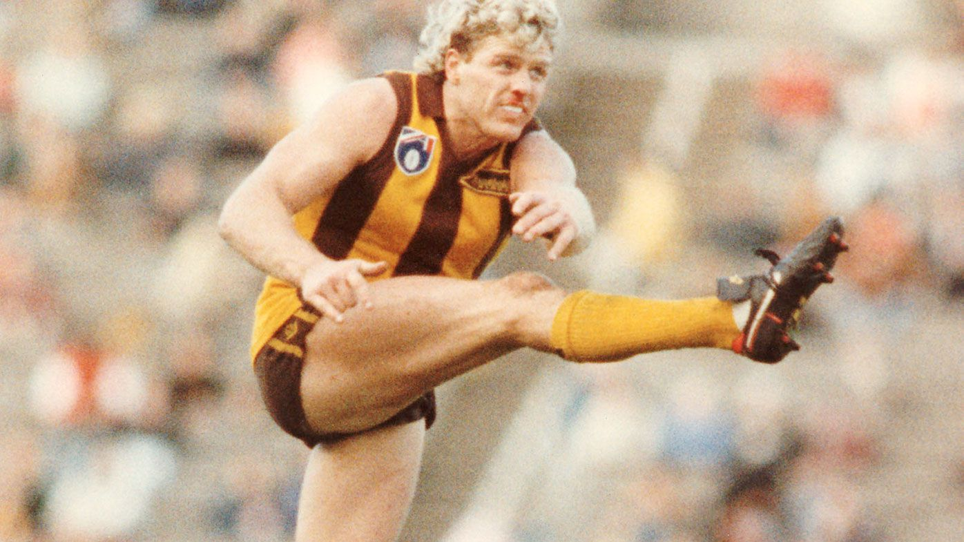 Dermott Brereton in action for Hawthorn.
