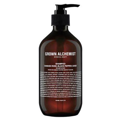 """<a href=""""https://www.mecca.com.au/grown-alchemist/shampoo-damask-rose-black-pepper-sage-500ml/I-031780.html?gclid=EAIaIQobChMIxq-F3PPY2QIVkBePCh2oJw1iEAkYASABEgLyb_D_BwE"""" target=""""_blank"""">Grown Alchemist Shampoo</a>: Damask Rose, Black Pepper & Sage, $44.00<br>"""
