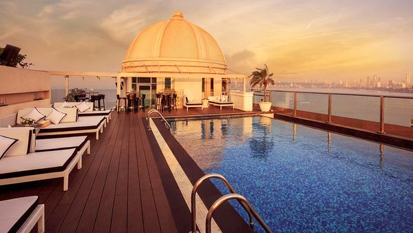 Rooftop balcony at InterContinental Marine Drive (supplied)