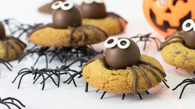 """Recipe:&nbsp;<a href=""""http://kitchen.nine.com.au/2017/10/26/11/37/kirsten-tibballs-spider-peanut-cookies"""" target=""""_top"""" draggable=""""false"""">Kirsten Tibballs' spider peanut cookies<br> </a>"""