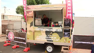 John McNeill started a coffee van when he left the Australian Army, now he will be opening a cafe to help troubled veterans on the road to recovery.