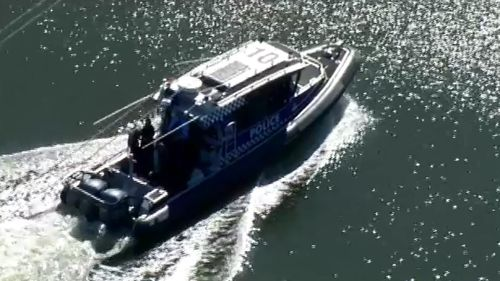 Water police are searching the Maribyrnong River for more body parts after a forearm was discovered. (9NEWS)