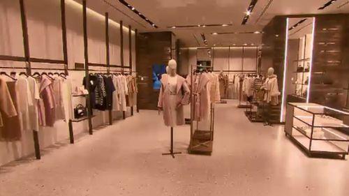 Shoppers can get their designer fix before boarding a flight. (9NEWS)
