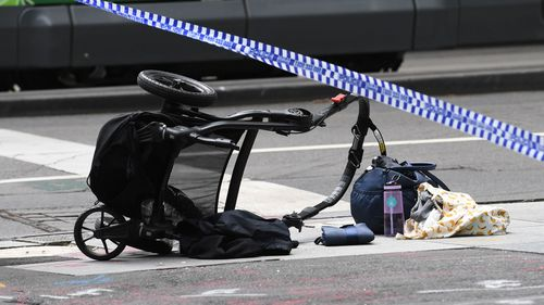 Children were among the six people who died on Bourke Street last January. (9NEWS)