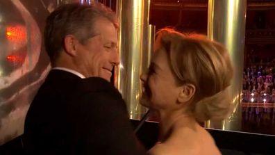 Hugh Grant and Renee Zellweger reunite at BAFTA awards.