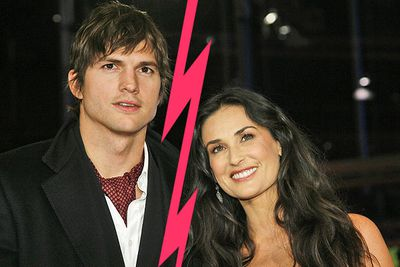 "After seven years of marriage, in September Demi Moore released a statement that she was divorcing Kutcher ""with great sadness and a heavy heart. As a woman, a mother and a wife there are certain values and vows that I hold sacred, and it is in this spirit that I have chosen to move forward with my life."""