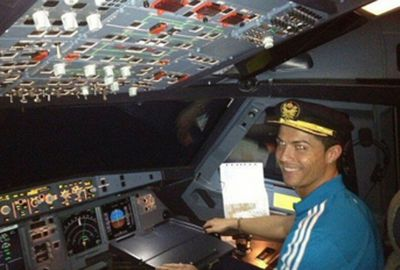 <b>Football king Cristiano Ronaldo has literally soared to new heights after buying himself a $28.7m private jet.</b><br/><br/>According to reports, the three-time Ballon d'Or winner has splashed out on a Gulfstream G200 twin-engine business plane.<br/><br/>The Real Madrid star's new toy can seat eight to 10 people and has a private room to hold his endless hordes of trophies.<br/><br/>But the lavish mode of transport can at least be justified when compared to some of sports stars and their expensive tastes.<br/>
