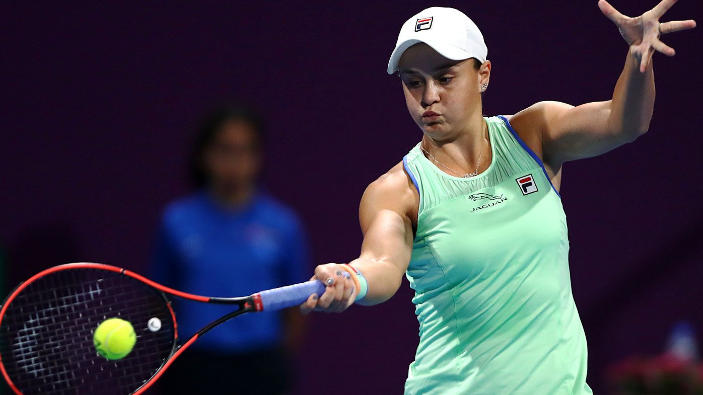 Ashleigh Barty at WTA Qatar Total Open 2020 at Khalifa International Tennis and Squash Complex