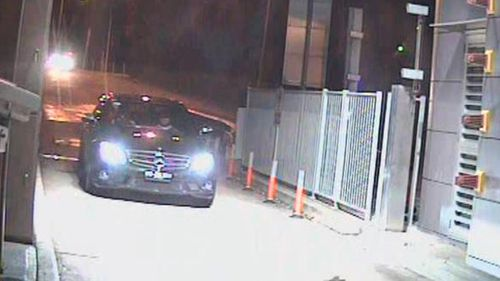 Police said they are trying to identify the two men seen in a Mercedes C63 on June 9, 2010. (NSW Police)