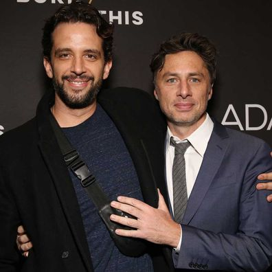 Nick Cordero and Zach Braff.