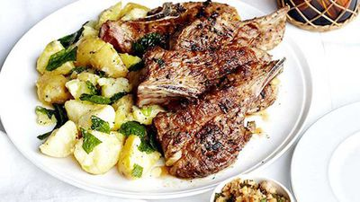 "Recipe:&nbsp;<a href=""http://kitchen.nine.com.au/2016/05/16/11/51/barbecued-lamb-neck-chops-with-hazelnut-picada-and-crushed-butter-potatoes"" target=""_top"">Barbecued lamb neck chops with hazelnut picada and crushed butter potatoes</a>"
