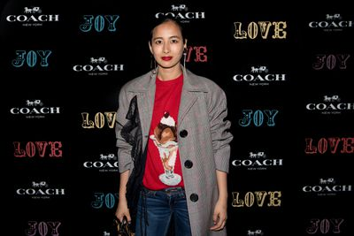 Petta Chua at the Coach launch, Sydney.