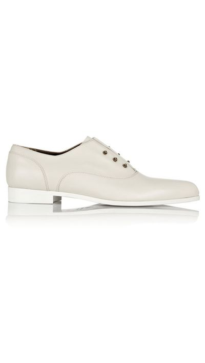 "<a href=""https://www.net-a-porter.com/product/468323/Lanvin/leather-brogues-"" target=""_blank"">Leather Brogues, $909, Lanvin</a>"
