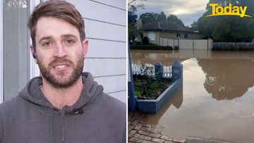 """Within three minutes of receiving a knock on the door from his neighbour, floodwater was """"seeping"""" through the walls of Kallan Fitzclarence's house."""