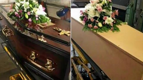 Expensive coffins are often re-used and the deceased placed in cheap alternatives.