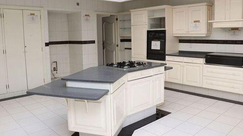 The kitchen in the multi-million-dollar villa