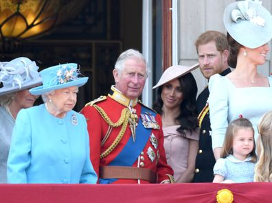 The Queen, Prince Harry, Meghan, Prince Charles