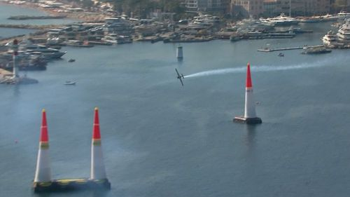 Hall set a blistering pace in the Red Bull Air Race. (Supplied)