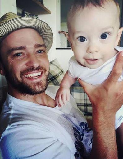 Justin Timberlake and Silas Timberlake