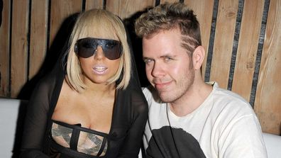 Lady Gaga and Perez Hilton attend a party hosted by Lady Gaga at Ultra on June 19, 2009 in Toronto, Canada.