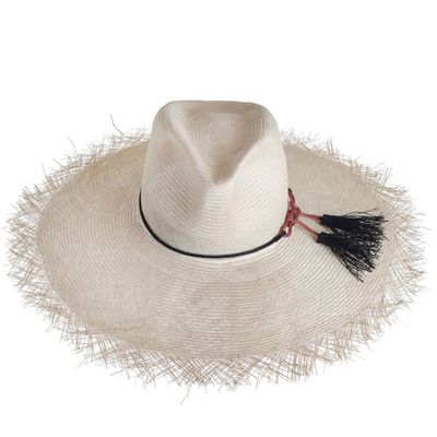 "<a href=""http://www.zimmermannwear.com/frayed-edge-wide-brim-sun-hat-natural.html"" target=""_blank"">Hat, $390, Zimmermann</a>"
