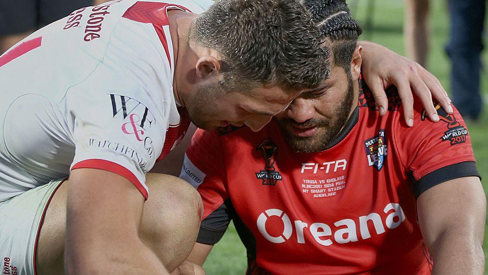 e977b7bde5b Rugby League World Cup: Tonga fall short to England in semi final ...