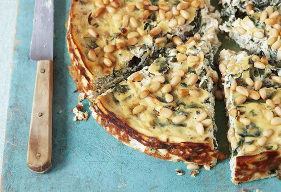 Anjum Anand's baked ricotta with chard