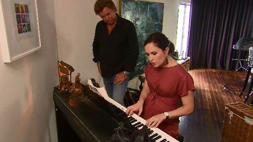 Higgins performed on Wilkins' piano. (9NEWS)