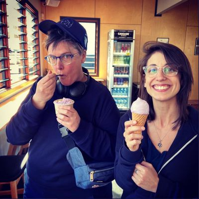 Hannah Gadsby and Jenney Shamash