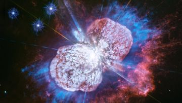 The Hubble Space Telescope has captured cosmic fireworks that have been unfolding over two centuries.