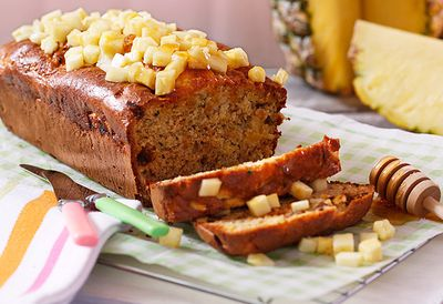 "Recipe: <a href=""https://kitchen.nine.com.au/2016/05/05/14/54/joanna-mcmillans-pineapple-zucchini-bread"" target=""_top"">Joanna McMillan's pineapple zucchini bread</a>"