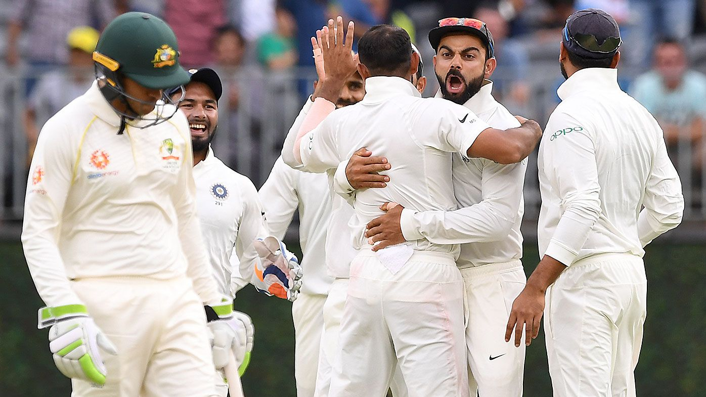 Test finely placed after Aaron Finch injury opens the door for spirited Indian fightback