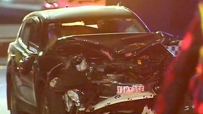 BMW on wrong side of freeway causes head on crash